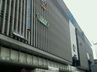 博多駅ビル建設中