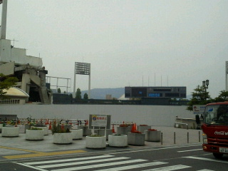 広島市民球場取り壊し中